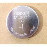 ML2032 laddningsbart knappcellsbatteri 3V, DC