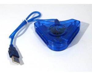PS1 / PS2 adapter till USB, PC / PS3 (två portar)