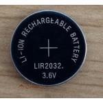 LIR2032 laddningsbart knappcellsbatteri 3,6V