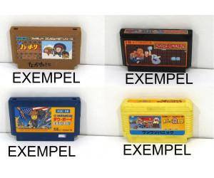 Kassett till Famicom, action/pussel, otestad, 1st