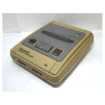 Super Famicom konsol, gul/brunt skick (tidig modell)