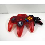 N64 handkontroll röd / vit transparent