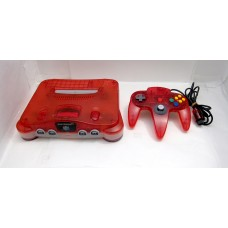 Nintendo 64 konsol, clear red