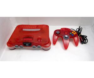 Nintendo 64 konsol, clear red