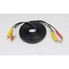 AV/RCA-kabel, 3 meter