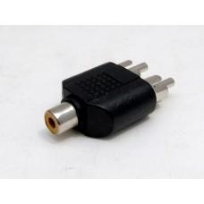 AV splitter - 1 hona till 2 hanar RCA/AV ljud/bild