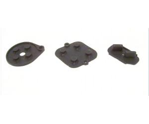 SFC/SNES ersättningsgummi, svart (knappsats, kontaktgummi)